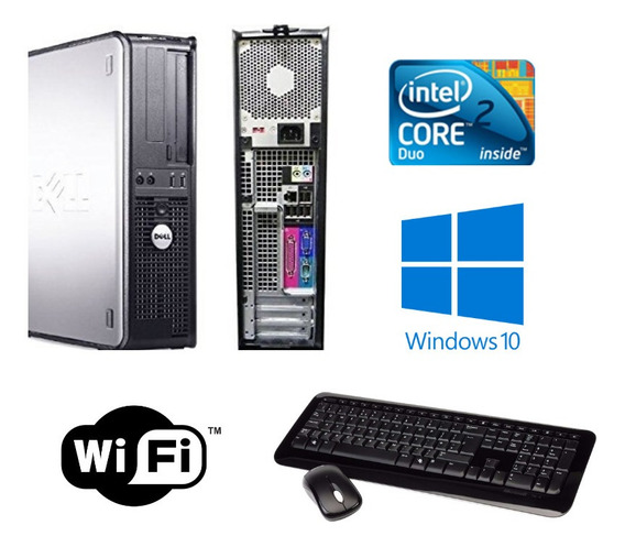 Cpu Dell 380 Core 2 Duo 8gb Ram Hd 320gb Windows 10
