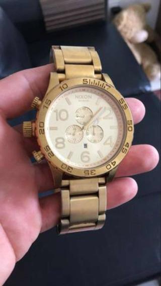 Relógio Nixon Dourado Original