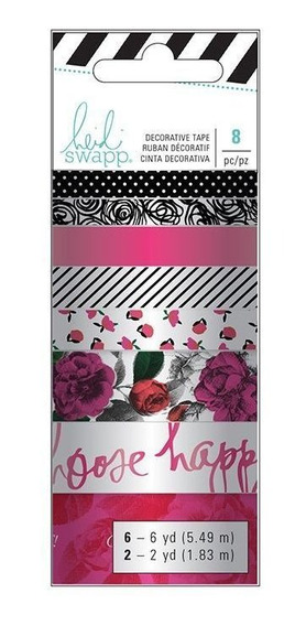 Fita Decorativa Adesiva Washi Tape Elegant Heidi Swapp