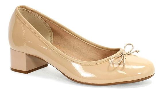Sapato Feminino Verniz Bege Beira Rio