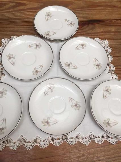 Juego 6 Platos De Café Porcelana Hartford Bone China