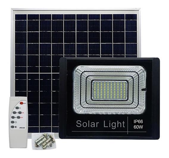 Luminária Refletor Led 60w Resistente Água Jardim Luz Solar