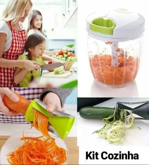 Triturador Alho, Cebola + Espiralizador Legumes #kitcozinha
