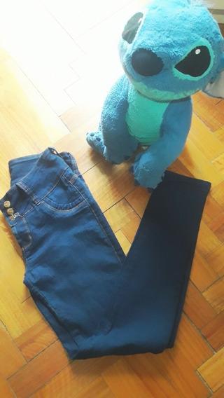 Pantalon De Jeans Azul Elastisado
