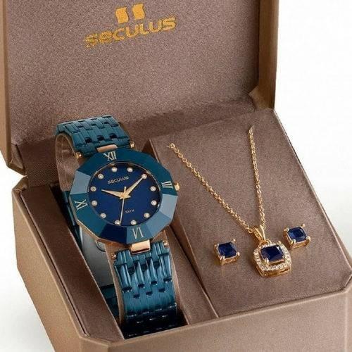 Kit Relógio Seculus Feminino 23529lpsveq1k1