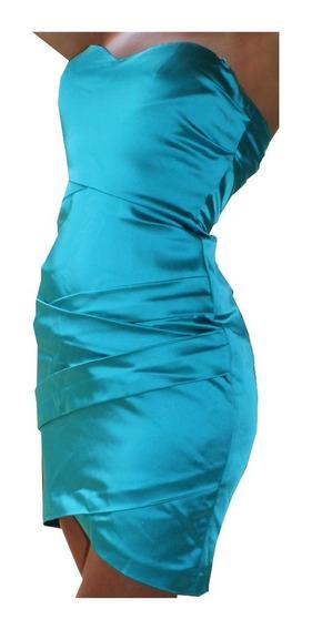 Vestido Turquesa Corto Mujer