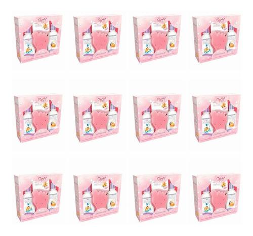 Imagem 1 de 1 de Giby A Hora Do Banho Rosa Sh + Cond + Sabonete (kit C/12)