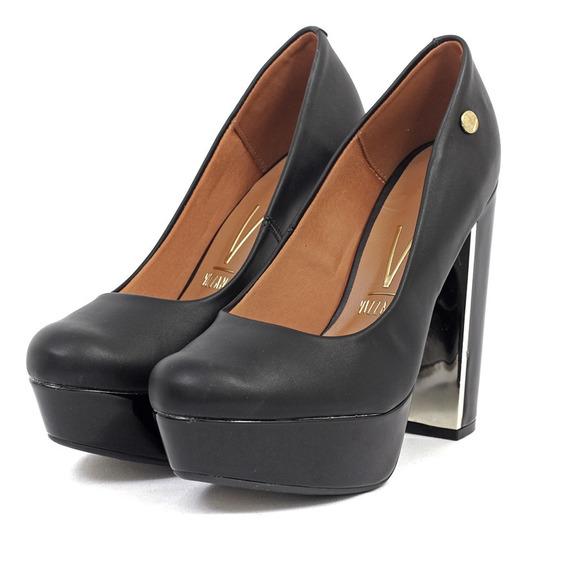 Zapatos Stilettos Mujer Plataforma Cuero Ecologico Escotado