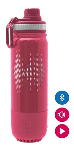 Botella Agua Parlante Bluetooth 450ml Rosa Frío Caliente