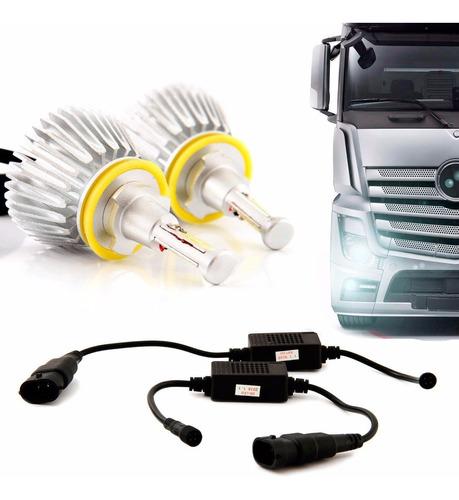 Par Lampada Farol Caminhão H11 6000k Super Led Automotivo