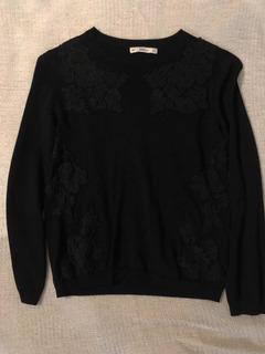Sweater De Zara. Negro, Medium.