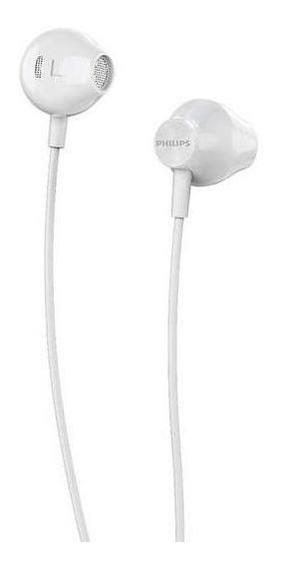 Fone De Ouvido Auricular Philips Bass Sound Taue100wt Branco