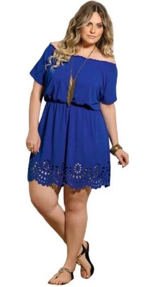 Vestido Ciganinha Roupas Plus Size Vazado Feminino