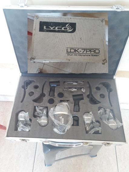 Kit De Microfone Pra Bateria Lyco Semi-novo