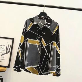 Blusa Camisa Feminino Social Elegante Verao Plus Size Xxg