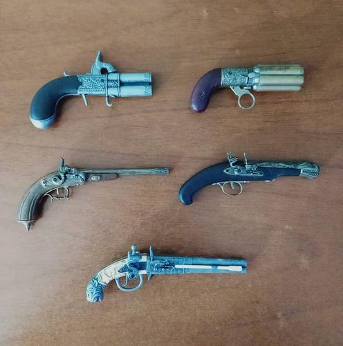 Mini Pistolas Antiguas De Colección (replicas) Pack De 5