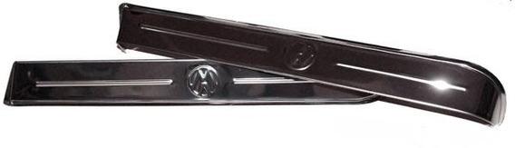Calhas De Chuva Aço Inox Com Logotipo Vw P/ Variant 1 E Tl