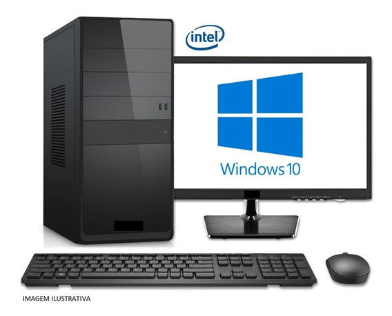 Pc Completo Core I7, 8gb, Ssd 240gb, Monitor Led 21.5, Nfe