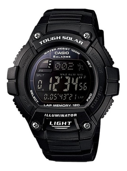 Relogio Casio W-s220-1 Solar Crono Timer 5alarmes Nf Origina