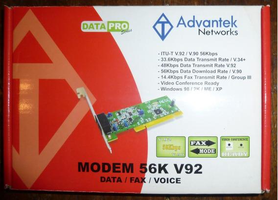 Modem Fax Pci Advantek Networks 56k V92 (ver)