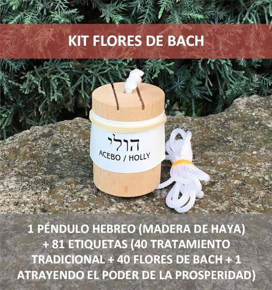 Flores De Bach. Péndulo Hebreo & 81 Etiquetas Radiónica