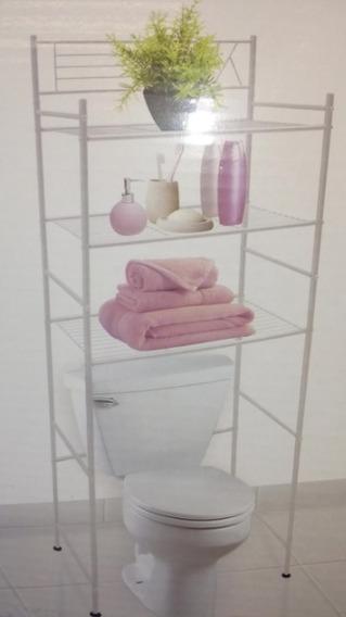 Mueble Ahorra Espacios Para Baño 3 Repisas 1.60 Mts Altura