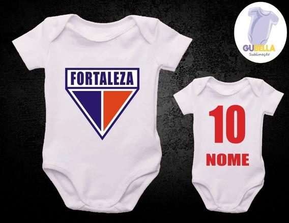 Body Bebe Time Futebol Fortaleza Com O Nome Do Bebê