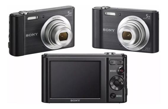 Câmera Digital Sony Dsc - W800/b 20.1 Mpx