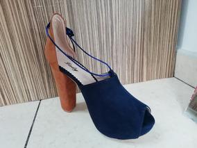 Sandalia Lupe Azul Tacon 8 Y Medio