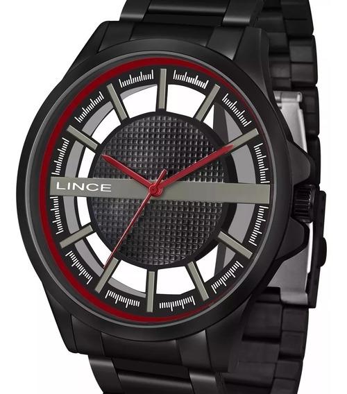 Relógio Lince Masculino Preto Mrn4580s P1px Original Oferta