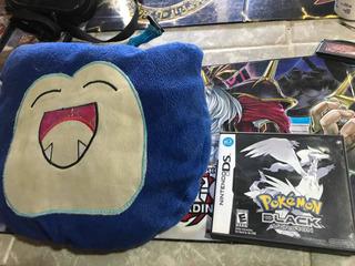 Caja De Pokemon Black Y Peluche De Snorlax
