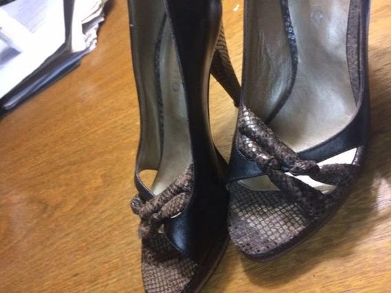 Zapatos 39 Costello. Un Solo Uso Reptil Y Cuero