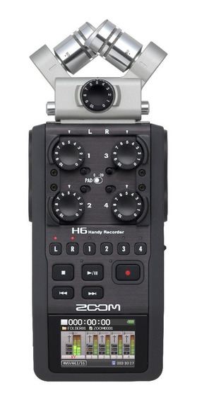 Gravador De Voz Digital Zoom H6 Handy Função X/y Shotgun