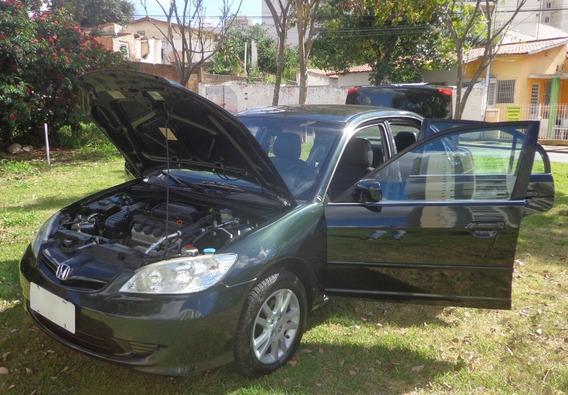 Civic 2004 Lxl 1.7 Automático Ar Dir Couro Rodas Raridade