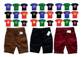 Kit 2 Bermuda Infantil + 2 Camiseta - Promocão !!!