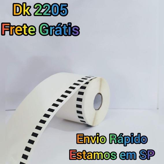 08 Rolos Dk 2205 Etiqueta Compatível Brother