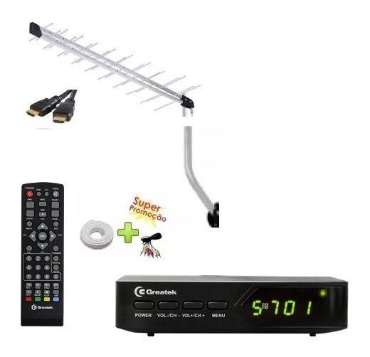 G200 Conversor Digital, Antena Externa, Suporte E Cabo