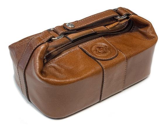 Neceser Hombre Cuero Viaje Porta Cosmeticos Modelo 0430