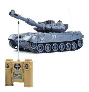 Rc Tanque D Guerra T90 Usa Controle Remoto Brinquedo Som Led