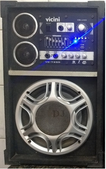 Caixa Som Amplificada Fm Usb Vc- 7200