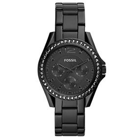 Relógio Fossil Feminino Ref: Es4519/1pn Cronógrafo Preto