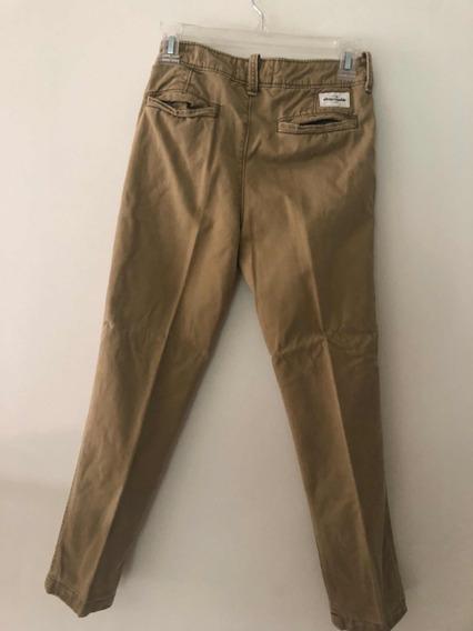 Pantalón De Vestir Caqui Abercrombie 12 Años
