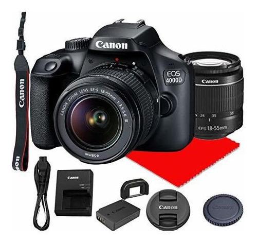 Canon Eo 4000d Camara Reflex Digital Lente Zoom Ef