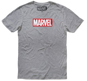 Playera Hombre Marvel Logo Máscara De Látex