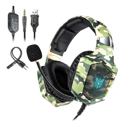 Cuota Auricular Gamer Usb Miniplug Pc Ps4 Micrófono Onikuma