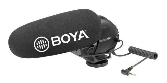 Microfone Shotgun Para Câmera Boya By-bm3031