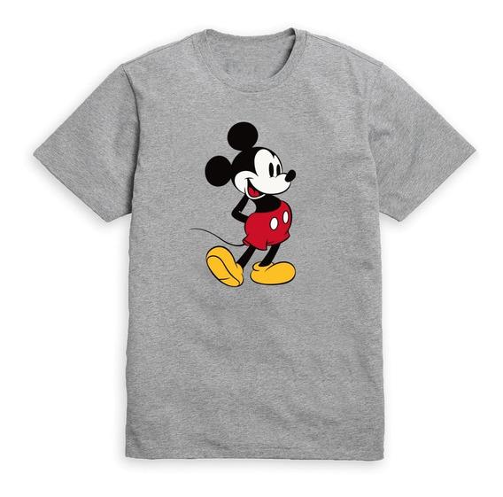 Remera Mickey Mouse Contento Color Gris Melange