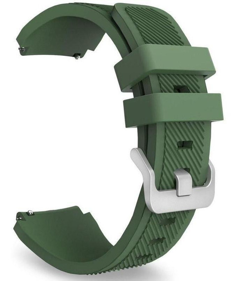 Pulseira Para Amazfit Stratos 2 / 2s Silicone Verde Escuro