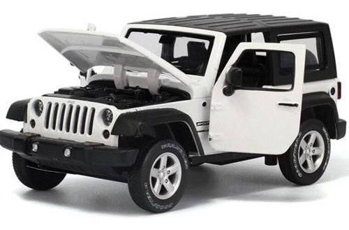 Auto De Coleccion Jeep Wrangler Con Luz Y Sonido 1:32 Msz
