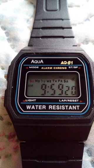 Relogio Digital Aqua, Cronometro, Aprova D